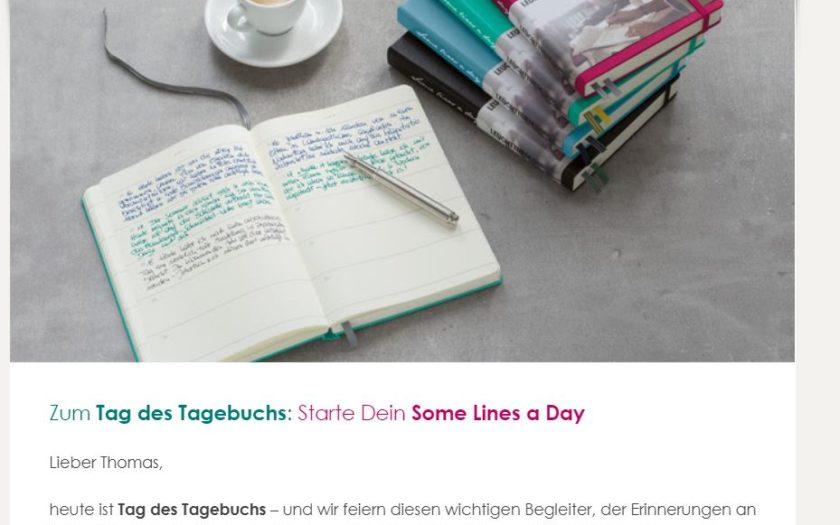 An Anne Franks 90. Geburtstag versucht man, mir ein leeres Tagebuch zu verkaufen…